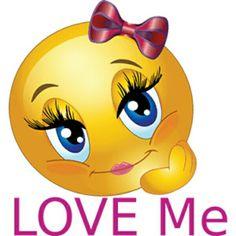 Love Me Smiley Emoticon Funny Emoji Faces, Emoticon Faces, Funny Emoticons, Smiley Faces, Love Smiley, Emoji Love, Cute Emoji, Smiley Emoji, Coeur Gif