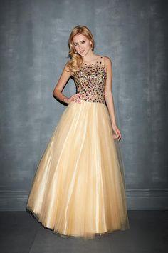 2014 Modest Prom Dress Scoop Neckline Beaded Tulle Bodice A Line Floor Length $245.99 #floor #princess #dress #neckline #bodice #scoop #girl #length #tulle #modest #sexy #prom dress #line #beaded #prom #2014