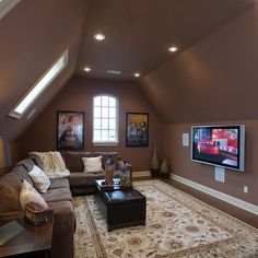 Room over the garage floor plan idea with sectional
