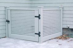 Privacy Fence for Trash Bins...yes, and my heat pumps!