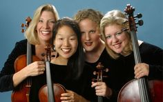 Cavani String Quartet - Vivacious, talented musicians. Also, artists in residence at CIM.