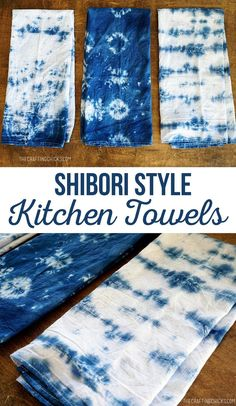At the Michael's Makers Summit last summer there was a class on Shibori Dyeing taught by Nicole from Darby Smart. As she was explaining the process of Shibori my hand shot up and I as… Diy Craft Projects, Diy Crafts, Sewing Projects, Sewing Ideas, Tie Dye Crafts, Towel Crafts, Tie Dye Patterns, Stitch Patterns, How To Dye Fabric