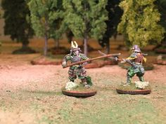 28mm Samurai duello Naginata - Perry Miniatures ~ Enionline Alternative Worlds #28mm #feudal #japan #sengoku #samurai #miniature #painting #duel #naginata