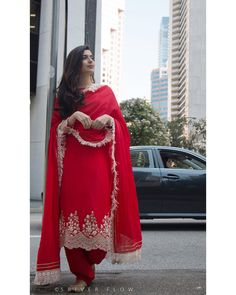 Image may contain: 2 people, people standing Punjabi Suits Designer Boutique, Indian Designer Suits, Designer Punjabi Suits Patiala, Embroidery Suits Punjabi, Embroidery Suits Design, Punjabi Wedding Suit, Wedding Suits, Wedding Wear, Wedding Dress