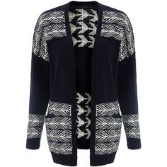Collection WEEKEND by John Lewis Arrow Drop Shoulder Cardigan,... ($86) ❤ liked on Polyvore featuring tops, cardigans, long sleeve cardigan, black chunky knit cardigan, ivory top, black long sleeve cardigan and black long sleeve top