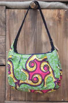 Shoulder purse in Bright African print Shop by AmahoroAfricanBags, $25.00