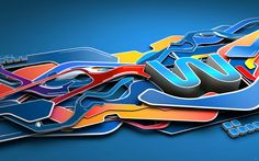 Abstract Graphic Art   42 Amazing 3D Abstract Artwork   Abduzeedo Design Inspiration