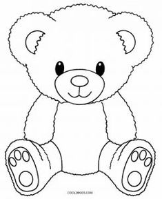 baby teddy bear Printable Teddy Bear Coloring Pages For Kids Teddy Bear Sketch, Teddy Bear Outline, Teddy Bear Template, Teddy Bear Drawing, Teddy Bear Patterns Free, Crochet Teddy Bear Pattern, Teddy Bear Coloring Pages, Easy Coloring Pages, Coloring Pages To Print