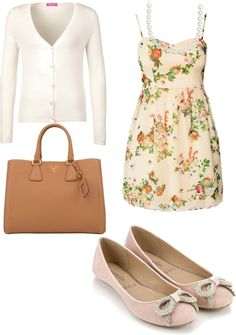 """Love this!!  """"Church outfit"""" by viviana-carreno on Polyvore. I'd love it more if the shoes had a non-sparkly bow. I love the rest though!"""
