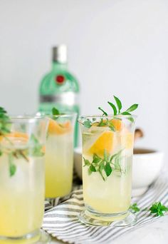 Gin punch recipe on waitingonmartha.com