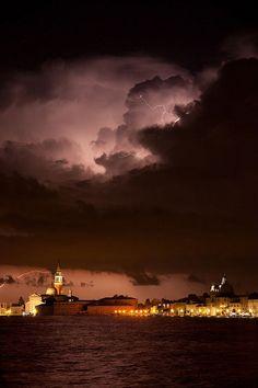 Venice, Italy....One Stormy Night,  Venice, province of Venezia , Veneto region Italy