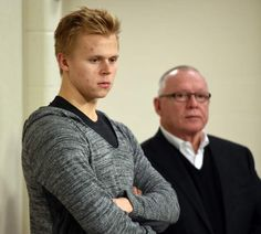 Wearing a gray-and-black, V-neck hoodie and with his blond hair swept to one side, Olli Maatta stepped to the podium Monday looking every bit like ...