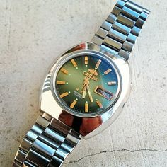 Stylish Watches, Luxury Watches, Watches For Men, Orient Watch, Timex Watches, Goncalves, Beautiful Watches, Automatic Watch, Vintage Watches