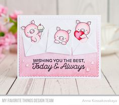 Sending Birthday Wishes Card Kit, Hog Heaven Stamp Set and Die-namics, Blueprints 27 Die-namics - Anna Kossakovskaya  #mftstamps