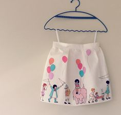 Girls Parade Skirt 12m to 5t  made to order by CottontailNZ