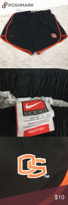"Nike Fit ✔️Oregon State University Athletic Shorts Nike Fit ✔️Oregon State University Athletic Shorts. Woman's size small. Gently used NO FLAWS😍 See photos for exact detail💓 Waist-12 Length-13"" Nike Shorts"