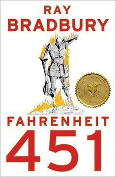 Ray Bradbury's internationally acclaimed novel Fahrenheit 451 is a masterwork of twentieth-century literature set in a bleak, dystopian future. Guy Montag is a fireman. In his world, where television rules and literature is on. Fahrenheit 451, This Is A Book, The Book, Books To Read, My Books, Music Books, Music Tv, Science Fiction Books, Kurt Vonnegut