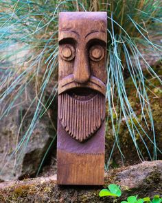 ODIN Carved Wooden Statue Figure Viking God Vikings Idol Norse Asatru Pagan Norway Scandinavia Oseberg Ship Art Wood Carving Hand Made Decor