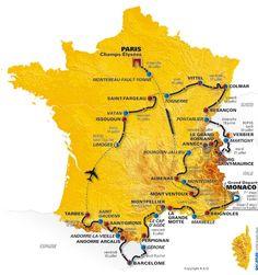 tour de france route map, 2009