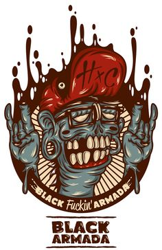 The Zombie Dude by Johnny Terror, via Behance