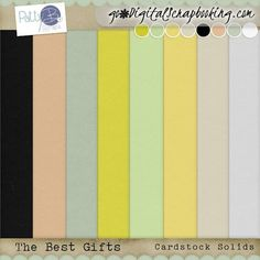 The Best Gifts Cardstock Solids The Best Gifts - has a subtle and sweet palette, and is a great collection for scrapping your holiday, and non-holiday family and friends' photos.