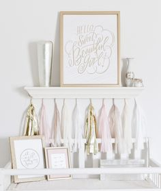 Photography : Elsy Photography Read More on SMP: http://www.stylemepretty.com/living/2015/02/12/a-heavenly-white-gold-nursery/
