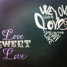 Blackboard Wall at florist. Chalk art. Brundageflorist.com Blackboard Wall, Chalkboard Ideas, Chalkboard Quotes, Flower Puns, Blackboards, Chalk Art, Art Quotes, Neon Signs, Artist