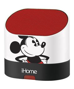 This White & Red Mickey Mouse Rechargeable Mini Speaker by Disney is perfect! #zulilyfinds
