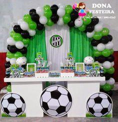 """DONA FESTEIRA: DECORAÇÃO """" BOM DE BOLA FUTEBOL CLUBE"""" Soccer Birthday Parties, Football Birthday, Soccer Party, Sports Party, Birthday Party Decorations, Boy Birthday, Party Themes, Soccer Decor, Football Themes"""