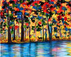 All these paintings are by blind painter John Bramblitt's, who relies on touch and texture to create stunningly vivid paintings - Album on Imgur