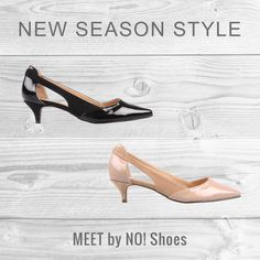 Meet by No! Shoes has arrived. A two tone trans-seasonal style. Shop Meet