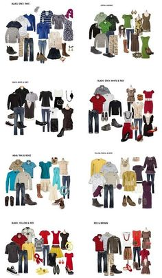 What to Wear for Family Pictures This was so helpful! What to Wear for Family Pictures - so you look good together! Family Picture Colors, Fall Family Pictures, Fall Photos, Family Photos What To Wear, Outfits For Family Pictures, Fall Family Outfits, Family Picture Clothes, Large Family Photos, Extended Family Pictures