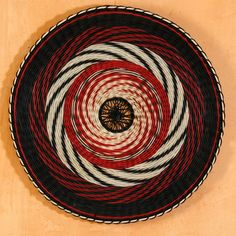 Handwoven wall art Black Red  White mandala by WeavingArt on Etsy, $450.00