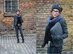 Philipp Plein Jacket, Moschino Gloves, Zara Top