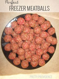 Made these freezer meatballs...and the kids loved them.  Froze them for use during the week with pasta and as meatball subs!