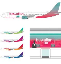 Hawaiian Airlines Rebrand by Oliver Lo, via Behance