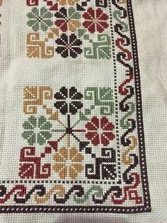 This Pin was discovered by ZeyUkrainian Cross Stitch Squares Machine Embroidery by Genniewren Cross Stitch Borders, Modern Cross Stitch, Cross Stitch Flowers, Cross Stitch Designs, Cross Stitching, Cross Stitch Embroidery, Embroidery Patterns, Cross Stitch Patterns, Broderie Bargello