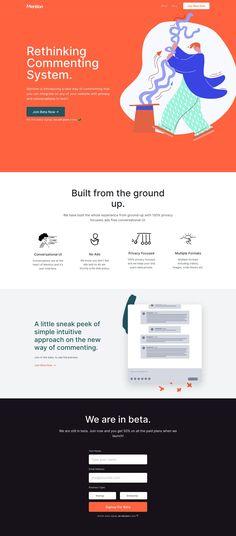 Maresz webdesign Mention landing page design inspiration - Lapa Ninja What Is An Air Hammer? Landing Page Examples, Best Landing Pages, App Landing Page, Landing Page Design, Web Design Mobile, Design Ios, Web Design Trends, Flat Design, Graphic Design