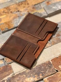 LEATHER BIFOLD minimalist wallet for men and women Our double half will replace all those wallets that go through every couple of years. Minimalist Leather Wallet, Slim Leather Wallet, Handmade Leather Wallet, Leather Bifold Wallet, Leather Men, Leather Bags, Leather Totes, Leather Backpacks, Custom Leather