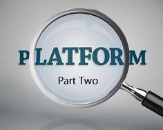Consistency: Starting last Tuesday and continuing today and next week I will be exploring the issue of author platforms and how to get one. At the...