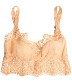 Chiffon and lace soft-cup bra