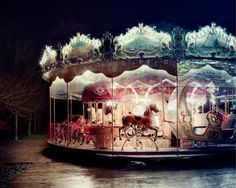 Imagine a Merry-go-round in the night. Carrousel, Nocturne, Night Circus, Painted Pony, Fun Fair, Hells Kitchen, American Gods, Art Anime, Merry Go Round