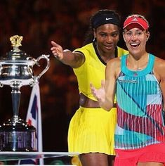 Go ahead, the trophy is yours. Serena gives way to Angelique. #ausopen2016 #grandslamchamion #firstgrandslamtitle