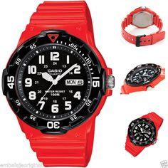 Reloj CASIO Collection MRW-200HC-4BVDF Hombre Men Rojo Caja Original y Garantia