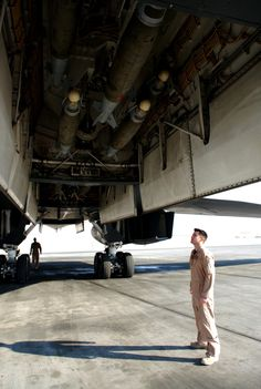 B-1B Lancer Weapons Inspection During Pre-Flight