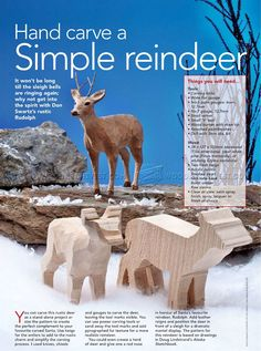 #2344 Reindeer Carving - Wood Carving Patterns - Wood Carving More More
