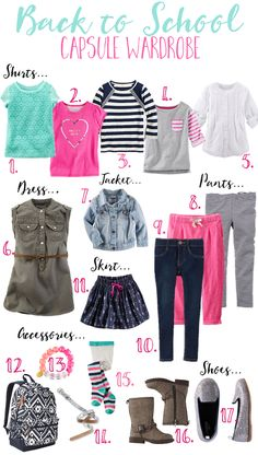 Back-To- School Capsule Wardrobe- Girl