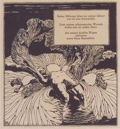 Iris. Illustration to a poem by Arno Holz. - Koloman Moser