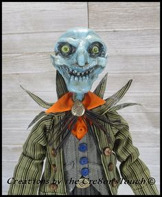 50$ starting bid! Handmade OOAK Halloween Bend-able pose-able Nosferatu Vampire Ghoul Zombie Doll #Cre8orsTouch
