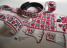 Большая парюра Днепровские розы. Handmade.